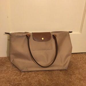 Used Tan Longchamp Bag